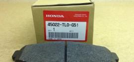 Колодки тормозные передние Honda Accord (2008-2013)